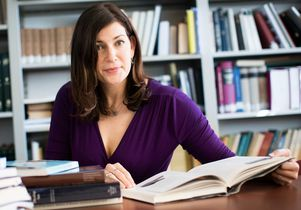 Kara Cooney with books