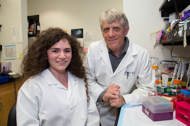UCLA student Megan Cory and Dr. Peter Butler