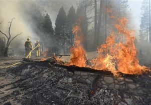 Fighting California wildfire