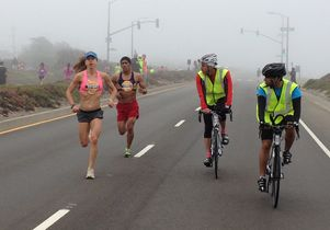 Emily Gordon runs marathon.