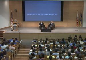 U.S. Secretary of the Treasury Jack Lew visits UCLA Anderson