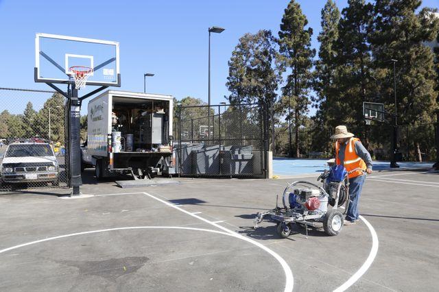 Hitch basketball court