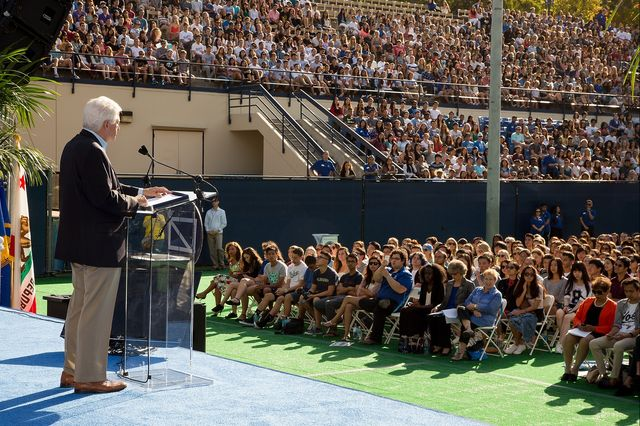Chancellor Gene Block welcomes new Bruins