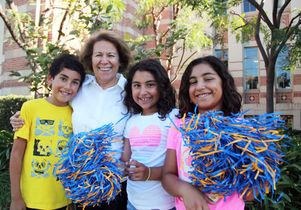 Parvin Arman and three of her grandchildren