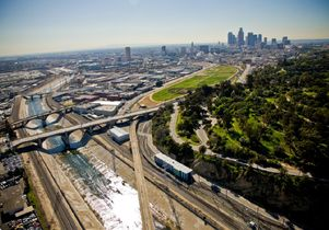 Los Angeles State Historic Park and surrounding neighborhoods