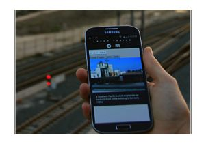 LASHP Trails website on a smartphone