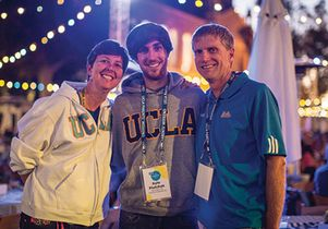 UCLA student Kyle Plutchak and his parents