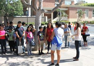 UCLA students lead tour for janitors and their children