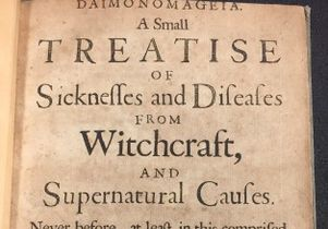"Title page of  ""Daimonomageia. A Small Treatise of Sicknesses and Diseases from Witchcraft and Supernatural Causes"""