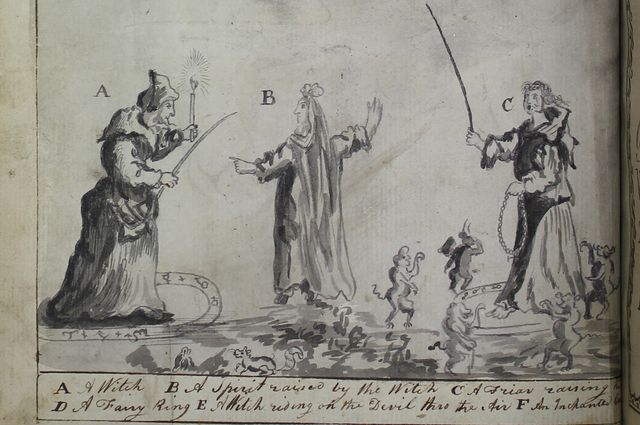 Image from a 1793 manuscript on witchcraft