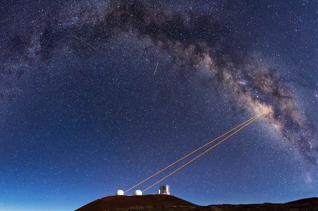 Telescopes at the Keck Observatory use adaptive optics, which enabled UCLA astronomers to discover that G2 is a pair of binary stars that merged together.