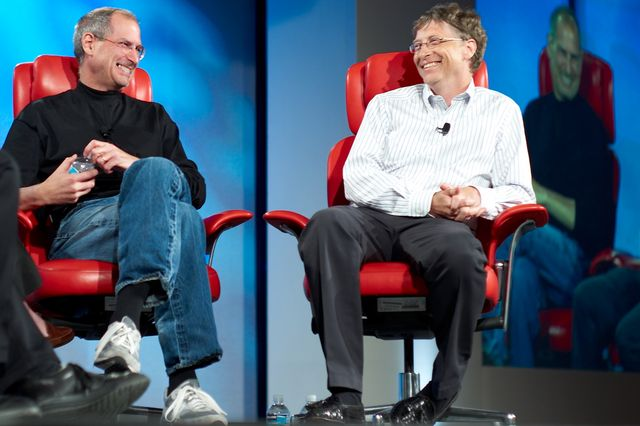 Steve Jobs with Bill Gates