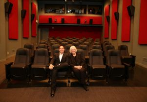 Television creator and executive producer Darren Star and Teri Schwartz, dean of the UCLA S chool of Theater, Film and Television