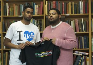 UCLA students Robert Jackson (left) and Ervin Rowe