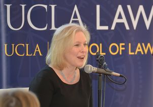 New York Sen Kirsten Gillibrand and UCLA Law Dean Rachel F. Moran