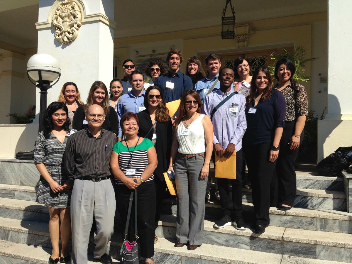 UCLA visitors with Dr. Jose Luis Di Fabio, Pan-American Health Organization/World Health Organization representative, Cuba
