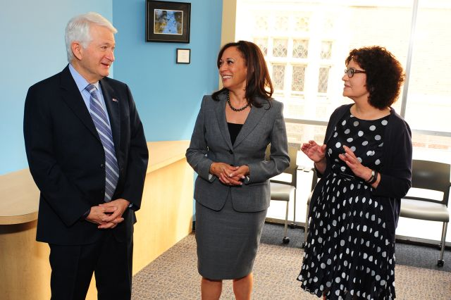 Kamala Harris and Chancellor Block