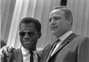 James Baldwin and Marlon Brando