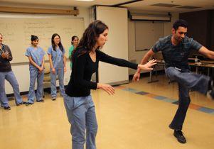 Dental students Roya Mahmoodi and Keegan Quadros