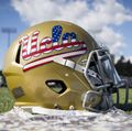 UCLA flag football helmet