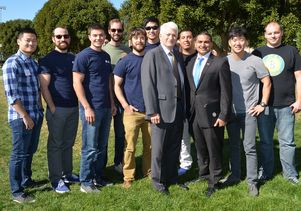 Chancellor Gene Block with UCLA student veterans