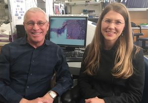 Dr. Owen Witte and Claire Faltermeier