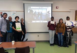 High school students present their digital media projects