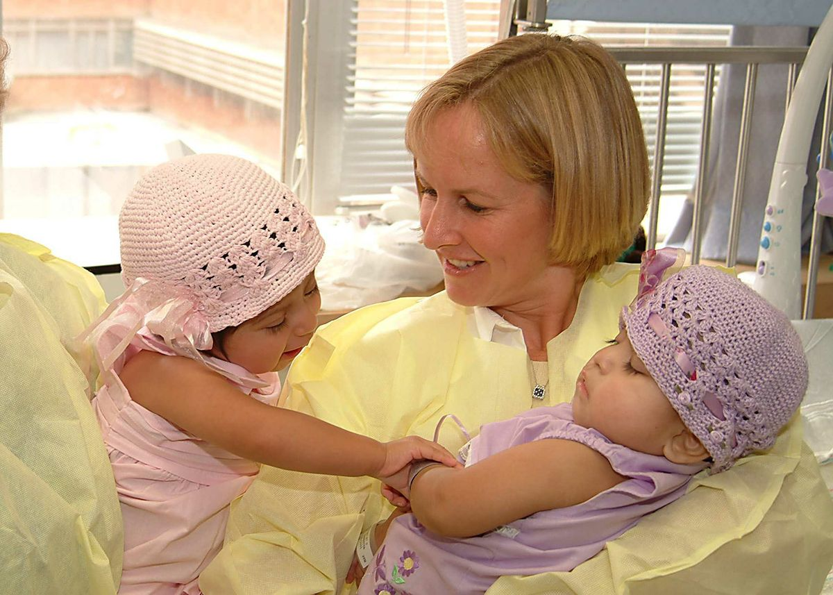 The twins and Jenny Hull, Josie's adoptive mother
