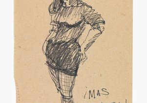 José Montoya sketch of woman