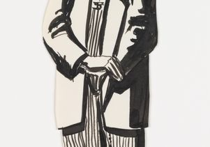 José Montoya sketch of zoot suit man
