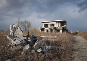 Ruined house on Fukushima coast