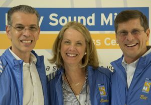 Dr. David Feinberg, CEO of the UCLA Health System, left, and Cindy and Bill Simon, cofounders of the Sound Body Sound Mind Foundation.