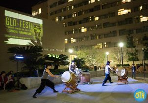Glo-fest lured students away from energy-intensive indoor pursuits and launched the Do It in the Dark campaign. An electricity-free acoustic performance of taiko drumming on UCLA's residential Hill set the tone.