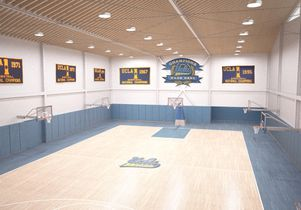Interior of the new Mo Ostin Basketball Center