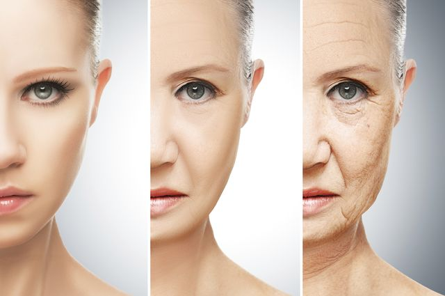 A woman in the aging process