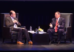 Jim Newton and Leon Panetta
