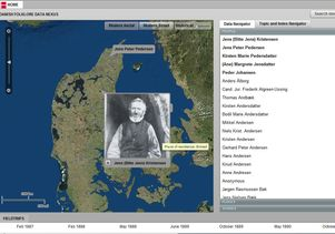 Webpage from the Danish Folklore Data Nexus
