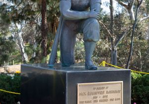 Statue of Jackie Robinson at Jackie Robinson Stadium
