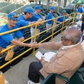 UCLA baseball team meets veterans