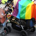 Gay pride march stroller
