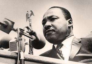 Closeup of MLK