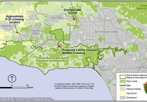 NPS map - lion crossings