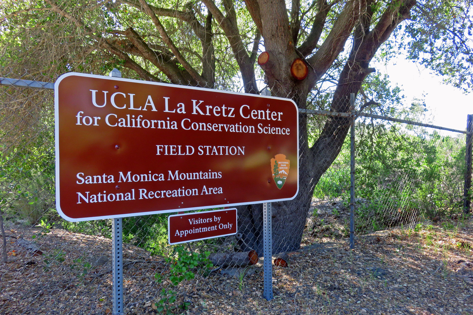 Sign for UCLA La Kretz Center field station
