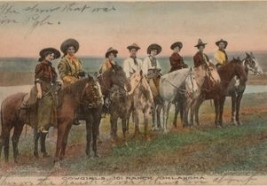 Old West postcard