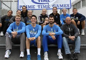 UCLA student-athletes and Mike Linn