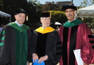 Dr. John Mazziotta, Professor Jared Diamond and Dr. Clarence Braddock III