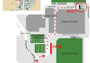 Commencement parking map 2015