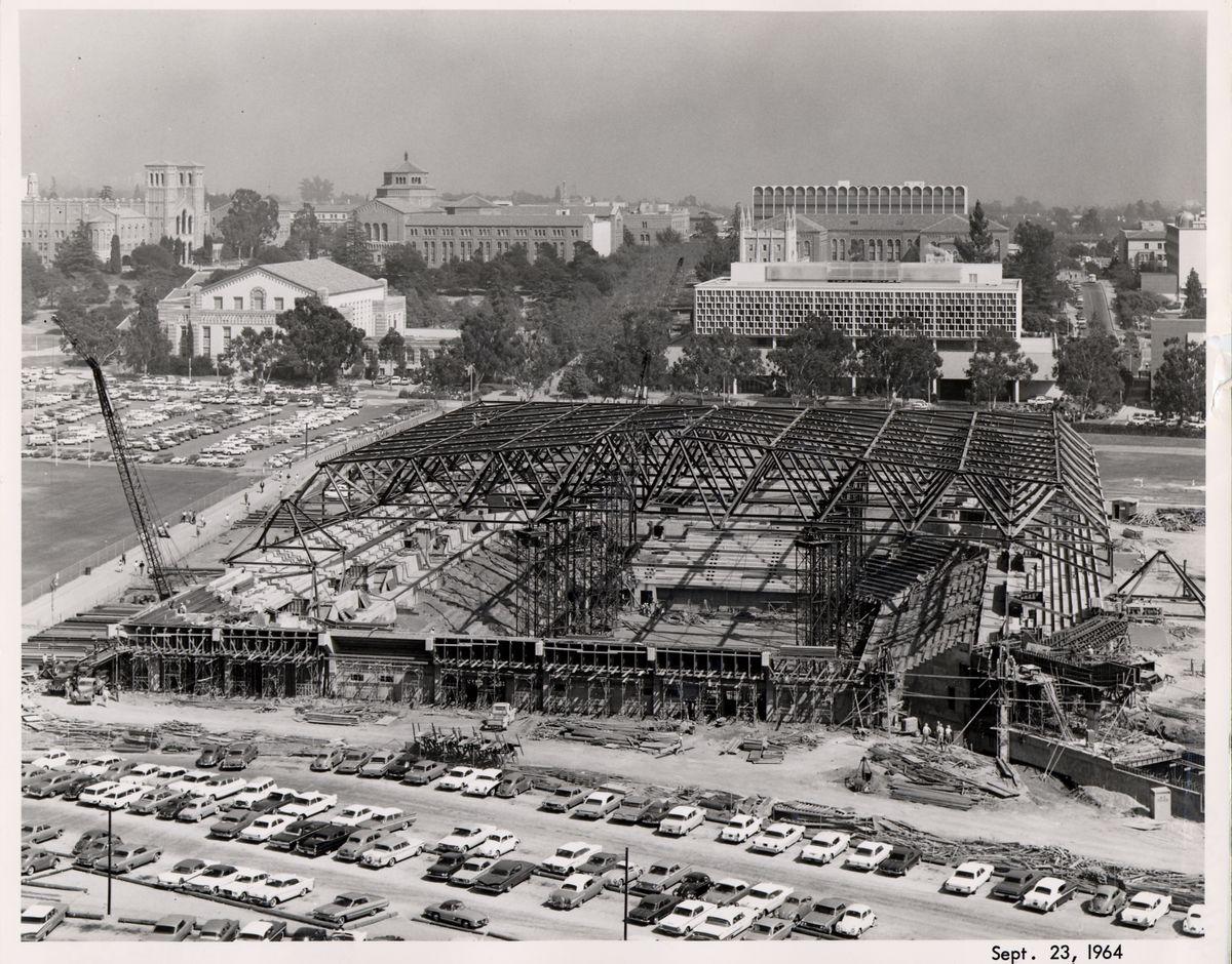 Pauley Pavilion under construction
