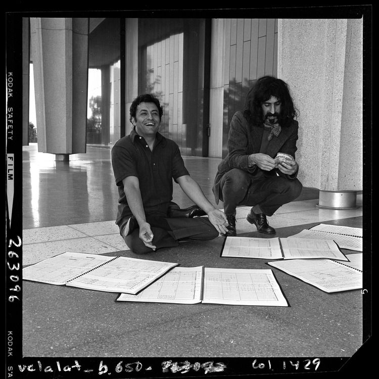 Los Angeles Philharmonic conductor Zubin Mehta and rock musician Frank Zappa, May 8, 1970