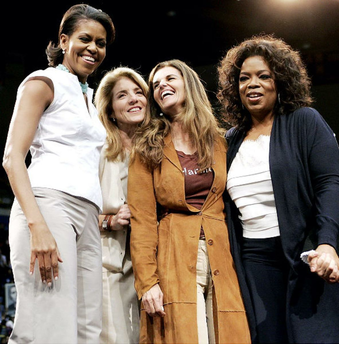 "Obama Rally: Michelle Obama, Oprah Winfrey, Caroline Kennedy and Maria Shriver are among the celebrities chanting ""Yes, We Can,"" at UCLA."